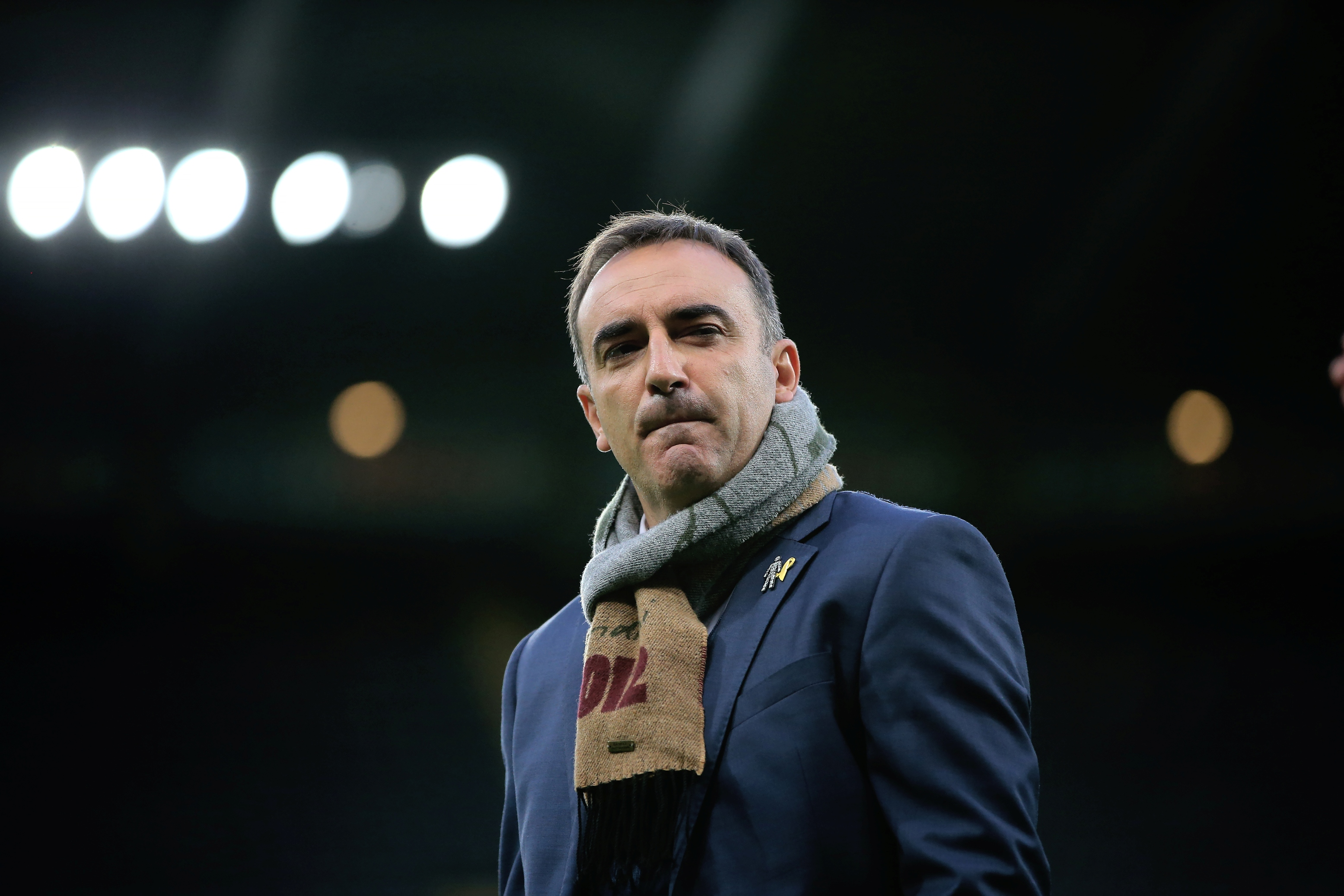 NEWCASTLE, ENGLAND - SEPTEMBER 23:  Carlos Carvalhal manager of Sheffield Wednesday looks on prior the Capital One Cup Third Round match between Newcastle United and Sheffield Wednesday at St James Park on September 23, 2015 in Newcastle, England. (Photo by Ian MacNicol/Getty images) *** Local Caption *** Carlos Carvalhal